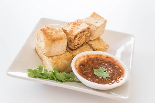 Tofu fritto - cibo sano