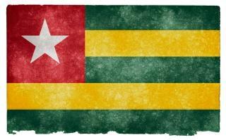 Togo grunge bandiera sfondo