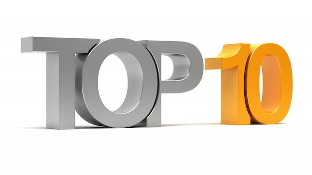 Top 10 testo 3d
