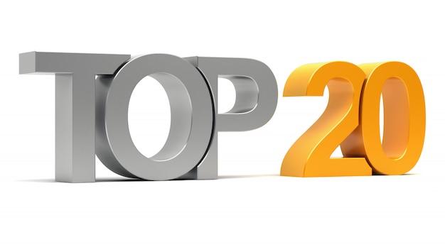 Top 20 testo 3d