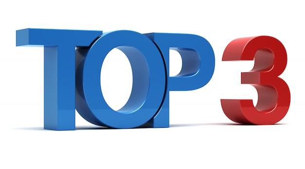 Top 3 testo 3d
