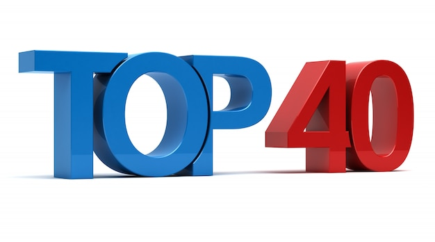 Top 40 testo 3d