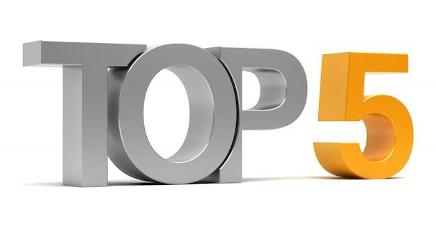 Top 5 testo 3d