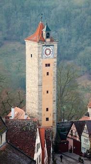 Torre del castello di rothenburg ob der tauber
