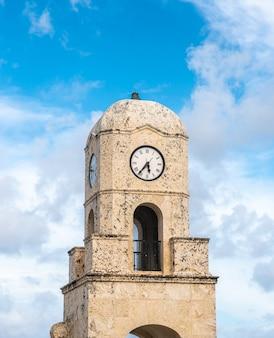 Torre di orologio di palm beach degno viale florida usa