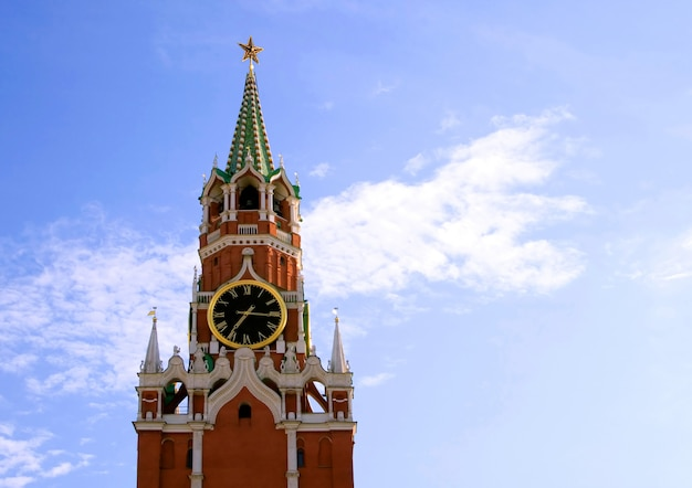 Torre di spasskaya del cremlino, mosca, russia