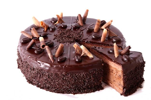 Torta al cioccolato con granelli di cioccolato
