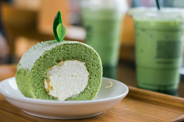 Torta al tè verde