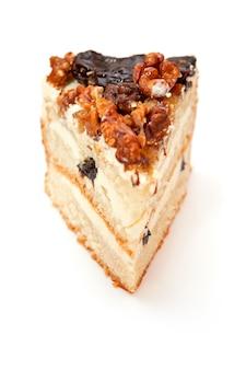 Torta biscotto con prugne e noci