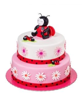 Torta creativa per una ragazza per il suo compleanno.