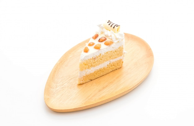 Torta di macadamia isolata