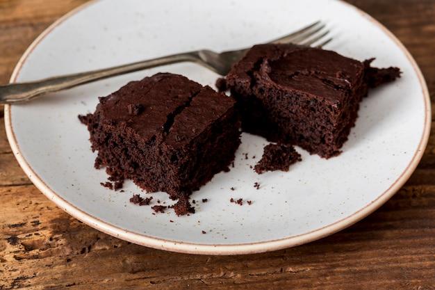 Torta fatta in casa fatta di cioccolato