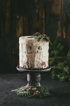Torta nuda natalizia