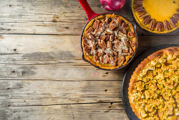 Torte autunnali tradizionali di stagione