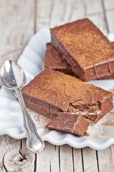Torte e biscotti al cioccolato fondente