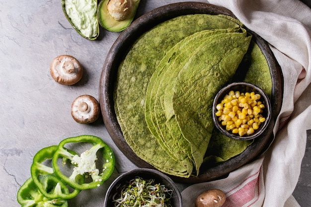 Tortilla di spinaci verdi