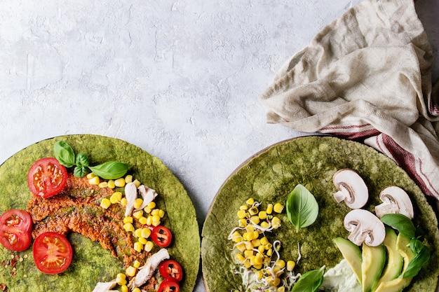 Tortillas di spinaci verdi