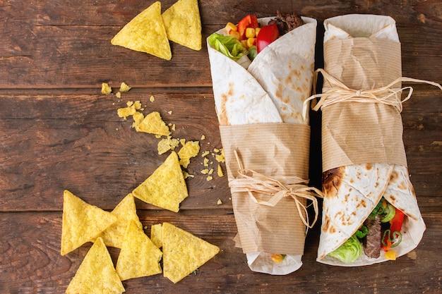 Tortillas e nachos
