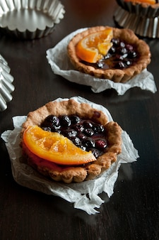 Tortine dolci con gelatina di frutta