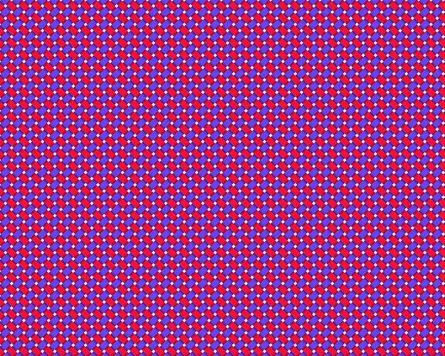 Tovaglia blu, bianca e viola senza soluzione di continuità