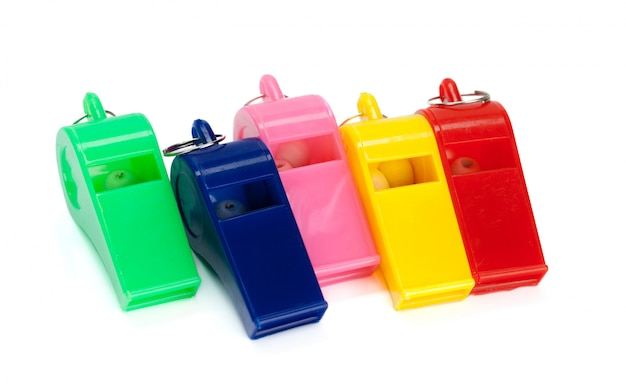 Toy whistle multi colored