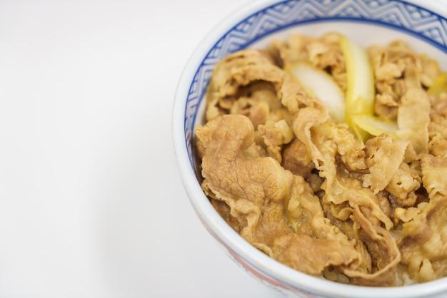 Tradizionale giapponese teriyaki piatto di manzo con riso