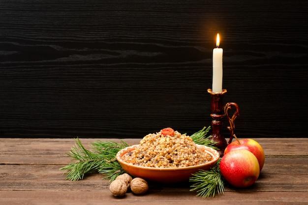 Tradizionale trattamento natalizio alla vigilia di natale slavi kutia