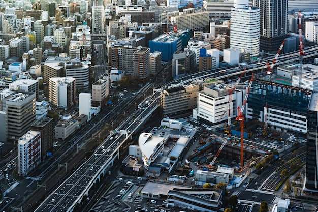Traffico e città a yokohama, in giappone