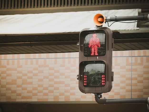 Traffico pedonale pedonale segnali di stop.