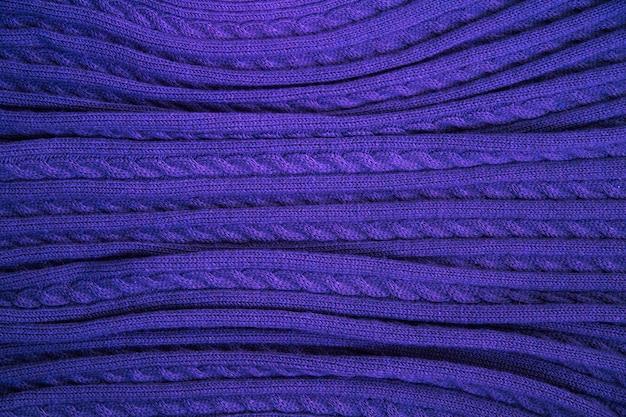 Trama blu di tessuto di lana fine