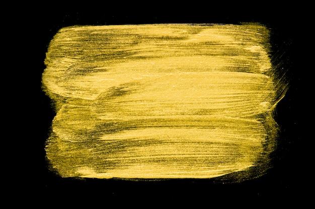 Trama d'oro. tratto di pennello disegnato a mano