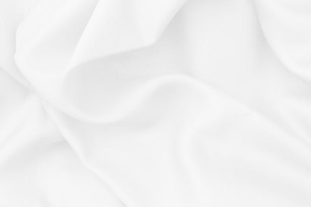 Trama del tessuto bianco per sfondo e design, bellissimo motivo di seta o lino.