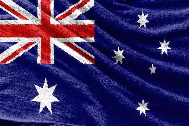 Trama del tessuto della bandiera nazionale dell'australia