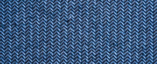 Trama del tessuto indumento blu.