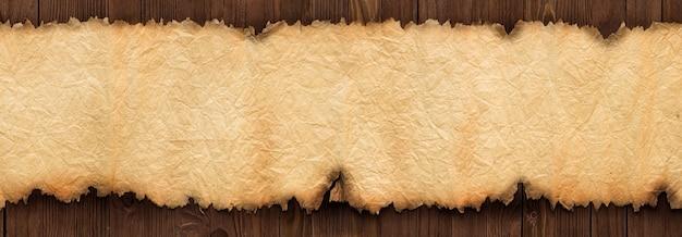 Trama della vecchia carta sul tavolo come sfondo per il testo