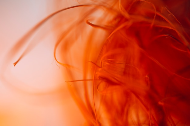 Trama di agitando le fibre rosse
