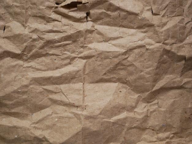 Trama di carta cartone accartocciato marrone