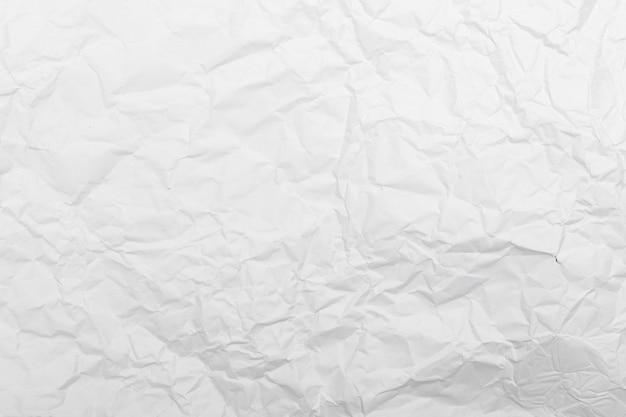 Trama di carta stropicciata bianca.