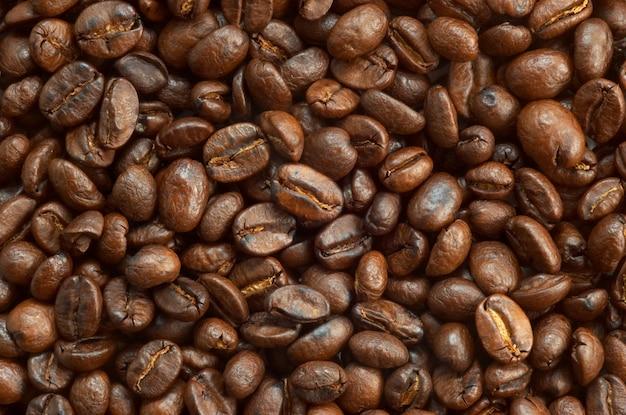 Trama di chicchi di caffè
