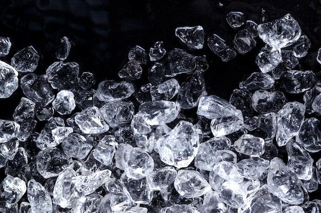 Trama di cubetti di ghiaccio tritato