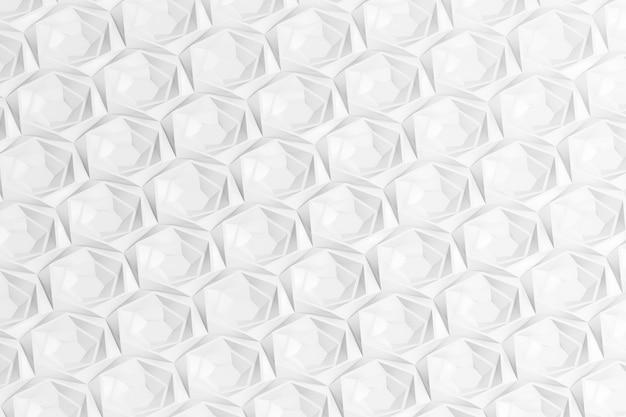 Trama di griglia tridimensionale esagonale con celle di diverse profondità con sporgenze