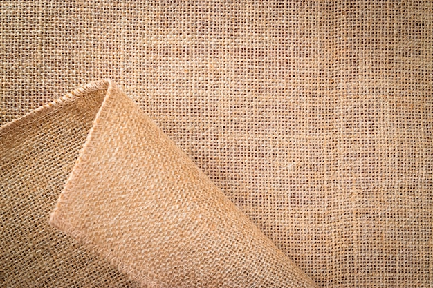 Trama di lino. tela marrone organica naturale.