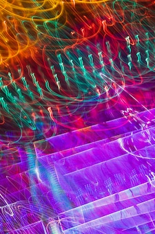 Trama di luci al neon lunga esposizione gradiente