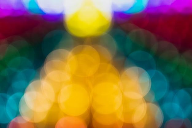 Trama di luci al neon lunga sfocata esposizione