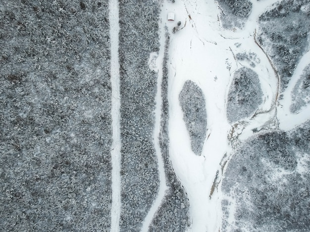 Trama di roccia con impronte