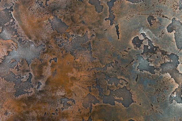 Trama di ruggine sulla superficie metallica