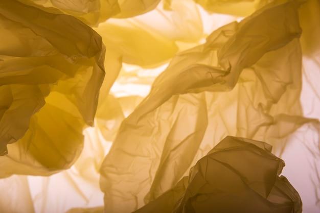 Trama di sacchetto di plastica. sfondo.