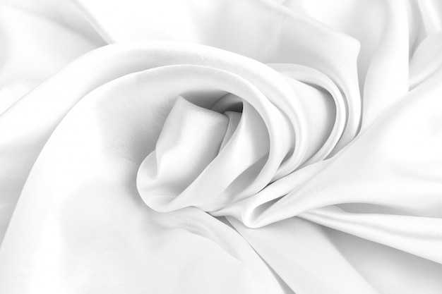 Trama di seta bianca lussuoso raso