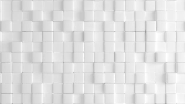 Trama di sfondo bianco con forme geometriche. illustrazione 3d