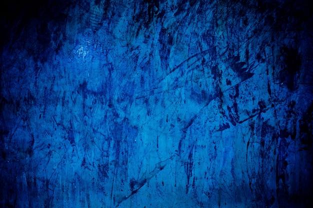 Trama di sfondo blu mortaio trama di cemento crepa